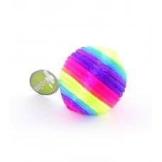 """Игрушка Papillon Rainbow ball для кошек """"Радужный мячик"""" с погремушкой, текстиль, 3.5 см"""