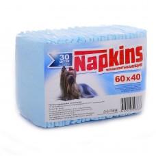 Впитывающие пеленки Napkins для собак, целлюлоза, 60х40 см, 30 шт