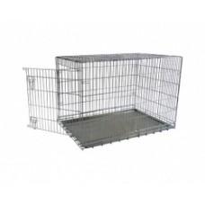 Клетка металлическая с 1 дверкой, 87x58x67 см, Wire cage 1 door