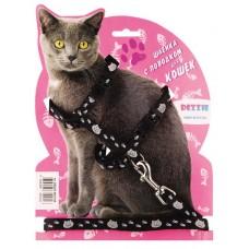 Комплект DEZZIE 5609535 д/кр кошек шл+повод черный