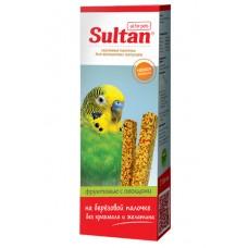 Зерновые палочки Султан для волнистых попугаев, фрукты/овощи, 2 шт