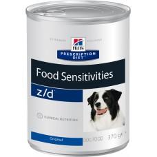 Корм Hills Prescription Diet z/d Food Sensitivities для собак при пищевой аллергии, диетический, банка, 370 г