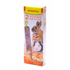 Лакомые палочки Benelux Seedsticks rodents Honey/Eggs x 2 pcs, для грызунов, мед/яйцо, 130 г