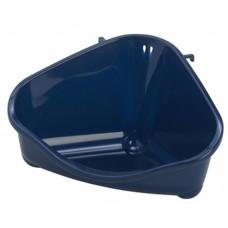Туалет для грызунов угловой средний, 35х24х18, черничный, pet's corner medium