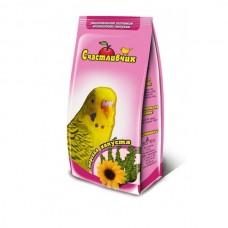 Корм Счастливчик для волнистых попугаев, морская капуста, 350 г