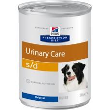 Корм Hills Prescription Diet s/d Urinary Care для собак при профилактике мочекаменной болезни, диетический, банка, 370 г