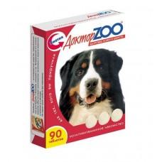 Мультивитаминное лакомство Доктор Zoo, для собак, здоровье кожи и шерсти, биотин, 90 таблеток