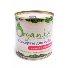 Корм Organix для собак, говядина/потрошки, банка, 750 г