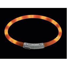Светящийся ошейник Hunter LED Yukon USB, оранжевый, 20-70 см