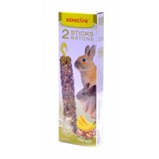 Лакомые палочки Benelux Seedsticks xxl rodents Nuts/Banana x 2 pcs, для грызунов, орех/банан, 180 г