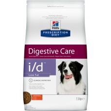 Корм Hills Prescription Diet i/d Low Fat Digestive Care для собак при расстройствах пищеварения с низким содержанием жира, диетический, курица