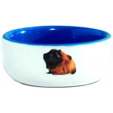 Миска керам Морская свинка голубая 160мл*10см 801640