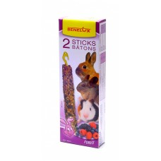 Лакомые палочки Benelux Seedsticks rodents Forest Fruit x 2 pcs, для грызунов, лесные ягоды, 130 г