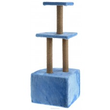 Домик-когтеточка угловой 3-ярусный (мех) 130