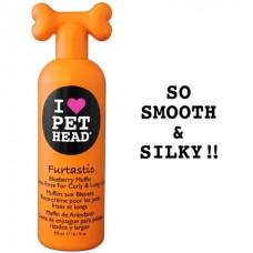 """Черничный крем-ополаскиватель Pet Head Furtastic """"Пушистик"""" для длинной шерсти собак с овсянкой,экстрактами кактуса и календулы, без сульфатов и парабенов, 476 мл"""