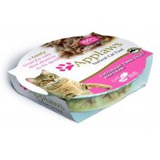 """Applaws консервы для кошек """"Нежное филе тунца с крабовым мясом"""", Cat Succulent Tuna with Crab, 60 гр"""