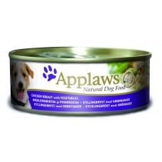 Applaws консервы для собак с курицей, овощами и рисом, Dog Chicken, Veg & Rice, 156 гр