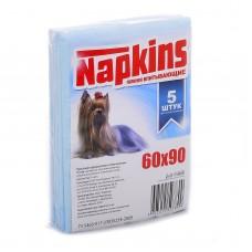 Впитывающие пеленки для собак (целлюлоза) 60*90, 5шт.