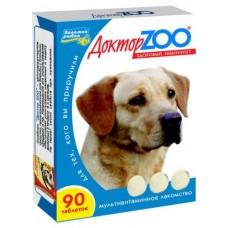 Мультивитаминное лакомство Доктор Zoo, для собак, здоровый иммунитет/морские водоросли, 90 таблеток