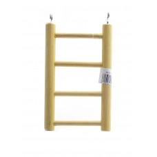 Деревянная лесенка для птиц 4 ступени, Ladder wood 4 rungs, 10.5х25 см