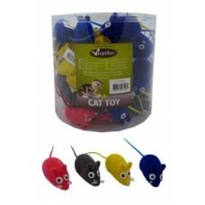 """Игрушка Papillon Velvet mouse для кошек """"Мышка-норушка"""", вельветовая, 6 см"""
