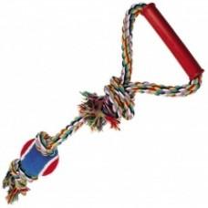 """Игрушка """"Веревка № 1"""" для собак, 50см, 250-260 г, хлопок, пластик, резина"""