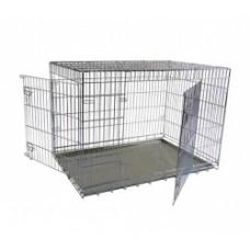 Клетка металлическая с 2 дверками, 107x68x75 см, Wire cage 2 doors