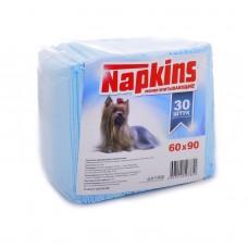 Впитывающие пеленки Napkins для собак, целлюлоза, 60х90 см, 30 шт