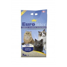 "Eurolitter Комкующийся наполнитель ""Контроль запаха"", без пыли, лаванда, Dust Free, 15 кг"