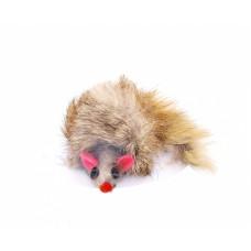 """Игрушка Papillon Furmouse для кошки """"Пушистый мышонок"""", натуральный мех, кролик, 9 см"""