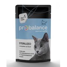 Корм ProBalance Sterilized для кастрированных и стерилизованных котов и кошек, пауч, 85 г