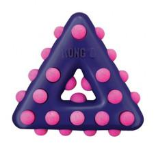 """Игрушка Kong Dotz """"Треугольник"""" для собак, большой, 17 см"""
