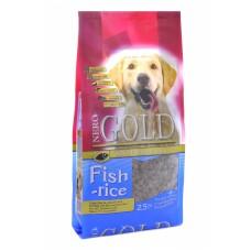 Корм NERO GOLD super premium для взрослых собак: рыбный коктейль, рис и овощи, Adult Fish and Rice 24/13, 12 кг