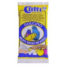 Лакомства Cliffi Dolcino alla Mela для птиц, яичный бисквит с яблоком, 35 г