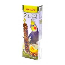 Лакомые палочки Benelux Seedsticks parakeet Nuts/Banana x 2 pcs для длиннохвостых попугаев, орехи/банан, 110 г