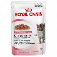 Royal Canin кусочки в желе для котят: 4-12 мес., Kitten Instinctive, 85 гр