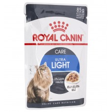 Корм Royal Canin Ultra Light для кошек 1-7 лет, низкокалорийный, желе, пауч, 85 г