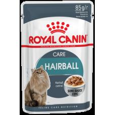 Корм Royal Canin Hairball Сare для вывода шерсти, соус, пауч, 85 г