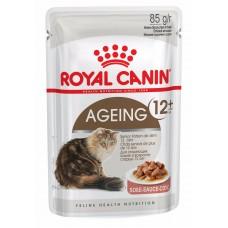 Корм Royal Canin Ageing +12 для кошек старше 12 лет, соус, пауч, 85 г